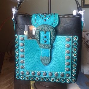 Montana West Buckle CollectionTurquoise/Black only